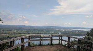 Enjoy Expansive Views From Atop A 500′ Rock Formation At Minnesota's Great River Bluffs State Park