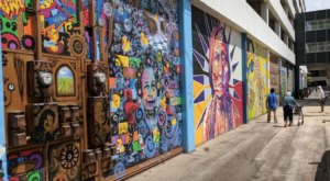 You'll Find A Beautiful Outdoor Art Gallery Hiding In This Bismarck, North Dakota Alley