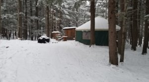 You'll Find A Lovely Glampground At Maine Forest Yurts Ideal For Winter Snuggles And Relaxation