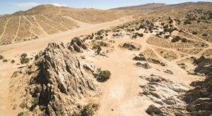 Nevada's Little-Known 'Moon Rocks' Landscape Is An Otherworldly Geologic Wonder