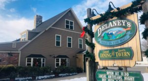 The Rustic Vibes At Delaney's Hole-In-The-Wall In New Hampshire Equate To Absolutely Scrumptious Meals