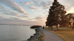 Battery Park Is The Most Scenic Place To Stroll Along The River In Historic New Castle, Delaware