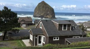 You'll Have A Front Row View Of Oregon's Haystack Rock At This Cozy Cottage