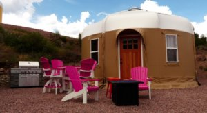 The Colorful Yurts At Royal Gorge Rafting And Zip Line Tours In Colorado Take Glamping To The Next Level