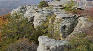Enjoy Expansive Views From Atop Chimney Rocks At Tennessee's McCloud Mountain