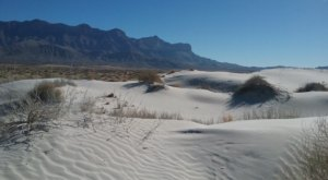 Hike Through Over 2,000 Acres Of White Sand Dunes At Guadalupe Mountains National Park In Texas