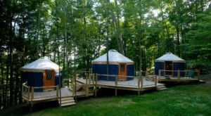 This Vermont Historic Property Has A Yurt Village That's Absolutely To Die For
