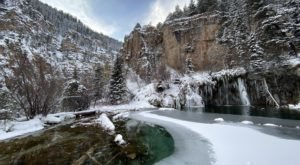 Don't Miss Your Chance To See The Beautiful Hanging Lake In Colorado This Winter