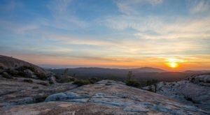 Enjoy Expansive Views From Atop A Granite Batholith At Northern California's Big Bald Rock
