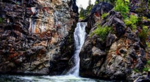 There's A Secret Waterfall In Montana Known As Crow Creek Falls, And It's Worth Seeking Out
