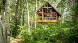 Sleep High Up In The Forest Canopy At Crosslake Treetop Village In Minnesota