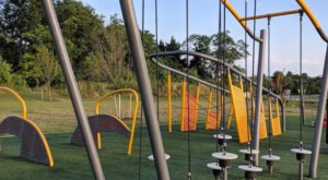 There's A Ninja Playground At Maryland's Blandair Regional Park And Even Adults Can Join In The Fun