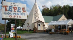 It's Impossible To Drive Along New York's Route 20 Without Pulling Over To See What's Inside The Tepee