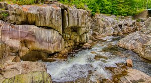 Experience Coos Canyon, One Of Maine's Most Majestic Waterfalls, Without Getting Out Of Your Car