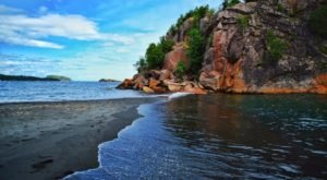 The Black Beach On Minnesota's North Shore Looks Like Something From Another Planet