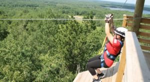 Take A Ride On The Longest Zipline In Minnesota At Kerfoot Canopy Tour