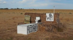 It's Impossible To Drive Along Nebraska's Highway 87 Without Pulling Over To See Why There's A Toilet On A Hay Bale