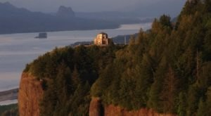 High Above Oregon's Columbia River Gorge, Vista House Is A Historic Treasure