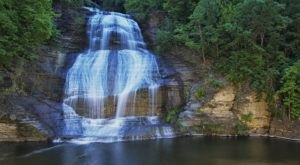 Enjoy The Views Of Shequaga Falls Outside Buffalo Right From The Seat Of Your Car