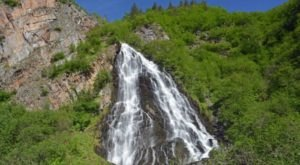 Experience Keystone Canyon Waterfalls, Some Of The Most Majestic In Alaska, Without Getting Out Of Your Car