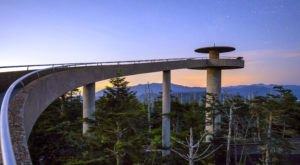 Trek To The Highest Point In The Great Smoky Mountains National Park At Clingman's Dome In North Carolina