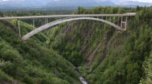 The Hurricane Gulch Bridge Is One Of The Tallest Bridges In Alaska