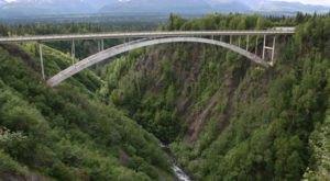 The Hurricane Gulch Bridge Is One Of The Tallest Bridges In Alaska
