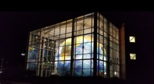 The World's Largest Indoor Rotating Globe Is Right Here In Maine At The Former DeLorme Office