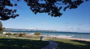 Wawatam Park In Michigan Offers Stunning Views Of The Mackinac Bridge And Plenty Of History