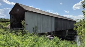 One Of The Longest Covered Bridges In Maine, Watson Settlement Bridge, Is 150 Feet Long