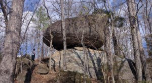 Hike Straight Through A Giant Rock Formation At Hanging Rock Battleground In South Carolina