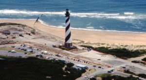 In 1999, The Entire Cape Hatteras Lighthouse In North Carolina Was Physically Moved Over Half A Mile – It Was A Big Deal