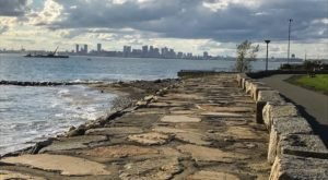 Enjoy Phenomenal Views Of The Boston Skyline On Deer Island Trail In Massachusetts