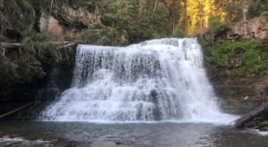 Take An Easy Out-And-Back Trail To Enter Another World At Ousel Falls In Montana