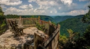Take An Easy Out-And-Back Trail To Enter Another World At Grandview's Turkey Spur Overlook In West Virginia
