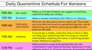 The Daily Quarantine Schedule All Kansans Will Relate To