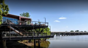 Sit Back And Enjoy Stunning Views At Blue Rose Cafe, Located On The Arkansas River In Oklahoma