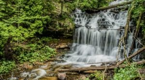 Take An Easy Out-And-Back Trail To Enter Another World At Wagner Falls In Michigan