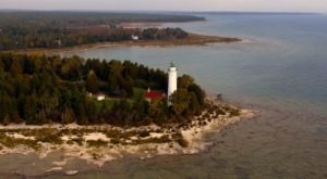 A Drone Flew High Above An Uninhabited Island In Wisconsin And Caught The Most Incredible Footage