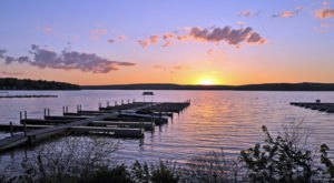 Lake Wallenwaupauk Is A Beautiful Lake Nestled In The Pennsylvania Mountains