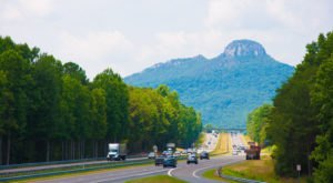 One Of North Carolina's Most Stunning Natural Wonders, Pilot Mountain Stands 2,421 Feet Above Sea Level