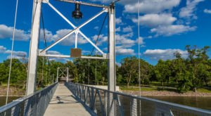Walk Across A 280-Foot Suspension Bridge In Granite Falls, Minnesota