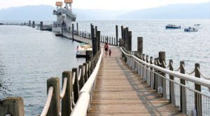 Coeur d'Alene Resort In Idaho Features A 3,300-Foot Boardwalk And Stunning Waterfront Views