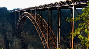 The Tallest, Most Impressive Bridge In West Virginia Can Be Found Near The Town Of Fayetteville
