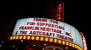 The Only Art Deco Movie House In Indiana, The Aircraft Theatre, Shows Classic Films The Old-Fashioned Way
