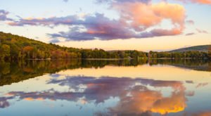 Watch A Sunset Along Lake Waramaugh, A Crystal-Clear Body Of Water In Connecticut