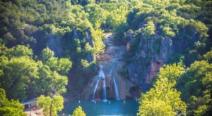 Marvel At The Beautiful Turner Falls Overlook In Oklahoma Without Getting Out Of Your Car
