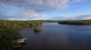A Drone Flew Over Lake Hopatcong In New Jersey And Captured Mesmerizing Footage