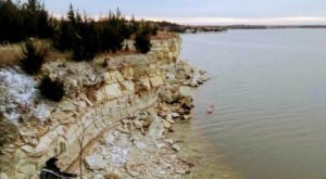 Explore Miniature Cliffs Surrounding One Of The Rockiest Lakes In Kansas At Webster State Park