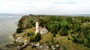 A Drone Flew High Above An Uninhabited Island In Michigan And Caught The Most Incredible Footage